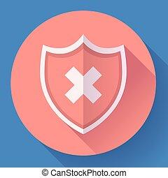 shield icon - protection symbol. Flat design style.