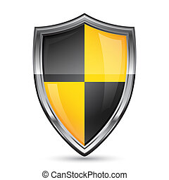 Shield icon - Vector illustration of shield security icon on...