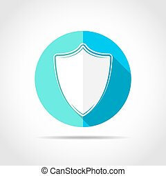 Shield icon. Vector illustration.