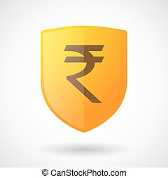 Shield icon with a rupee sign