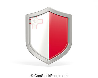 Shield icon with flag of malta