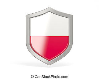 Shield icon with flag of poland