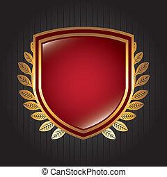 shield design over black background vector illustration