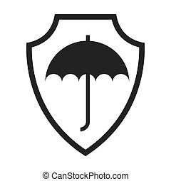 shield isolated insurance icon