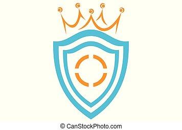 shield king logo vector