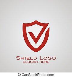 Shield logo design.