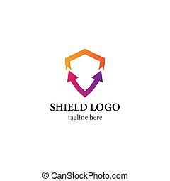 Shield logo template