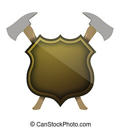 shield of protection illustration design over a white ...