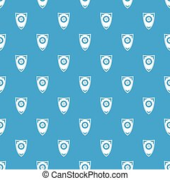 Shield pattern seamless blue