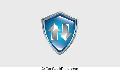 shield protection arrow upload and download information