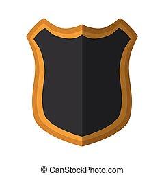 shield protection dark yellow frame shadow