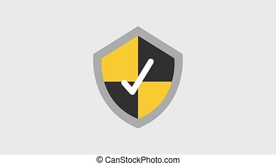 shield protection icons - shield protection check mark icons...
