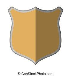 shield protection mediavel emblem empty shadow