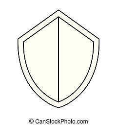 shield protection on white background