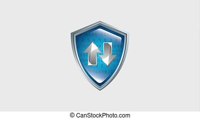 shield protection security binary checkmark hd