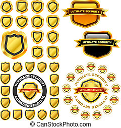 Shield - Protection shields. Usable for different design.