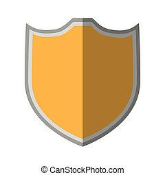 shield protection sticker icon shadow