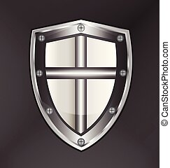 Shield protection with cross vector