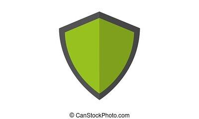 Shield protective symbol HD animation - Shield protecting...