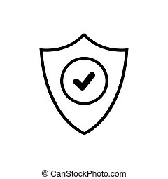 Shield safe with check mark