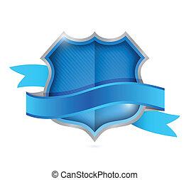 shield seal illustration design over a white background