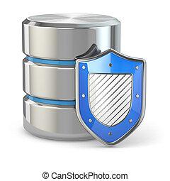shield., security., données, base données