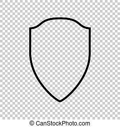 Shield sign. Line icon