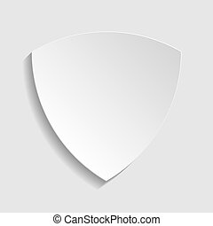 Shield sign. Paper style icon. Illustration.