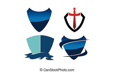 Shield Sword Template Set