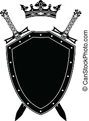 shield, swords and crown