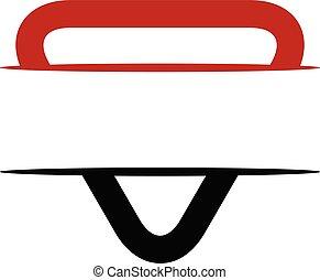 shield triangle emblem logo blank template