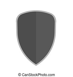 Shield vector flat illustration element icon. Security emblem protect guard.