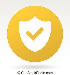 Shield vector icon.