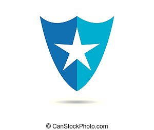 Shield vector icon illustration design