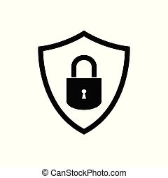 Shield vector icon security protection symbol for graphic design, logo, web site, social media, mobile app, ui illustration