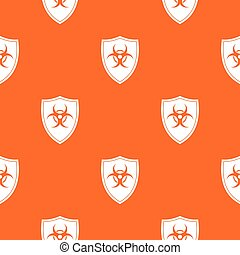 Shield with a biohazard sign pattern seamless
