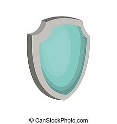 shield with a blue color on a white background