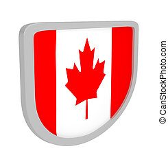 Shield with a Canada flag