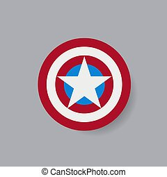 Shield with a star, superhero shield
