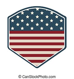 shield with american flag icon