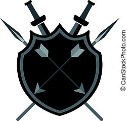 Shield with arrows