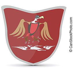 shield with bird