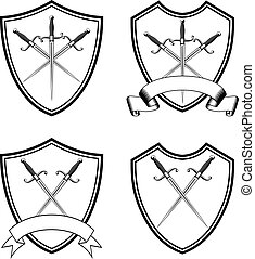 shield with crossed dirks set