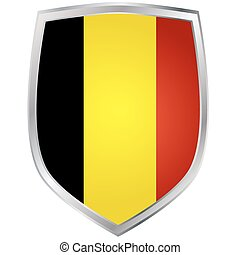 Shield with flag of Belgium