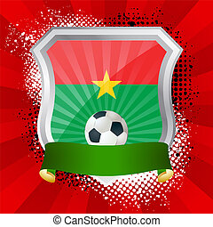 Shield with flag of Burkina Faso