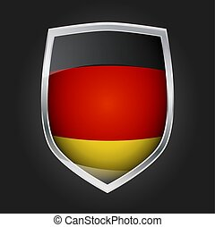 Shield with flag of Germany