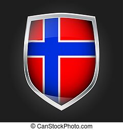 Shield with flag of Norway