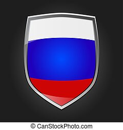 Shield with flag of Russia