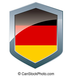 Shield with German flag
