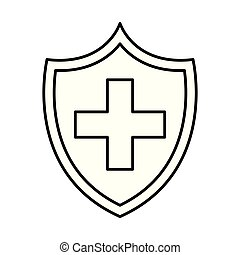 shield with medical cross